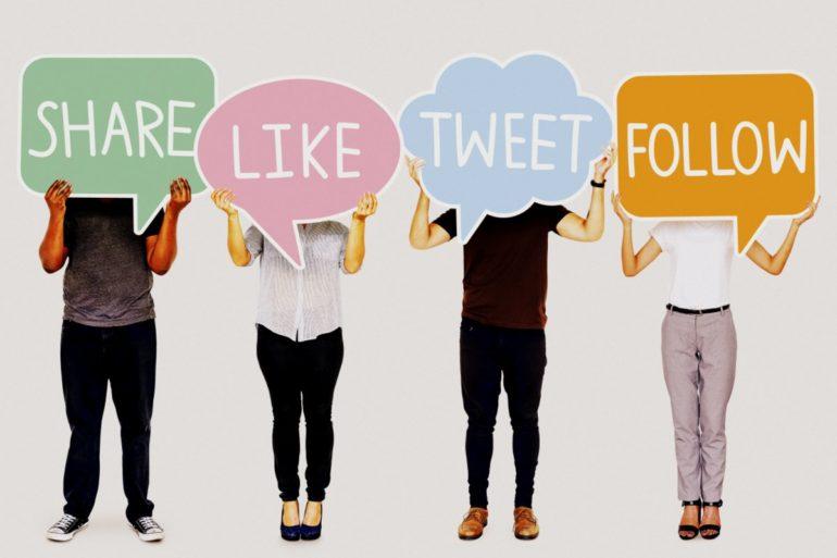 Social media sharing likes