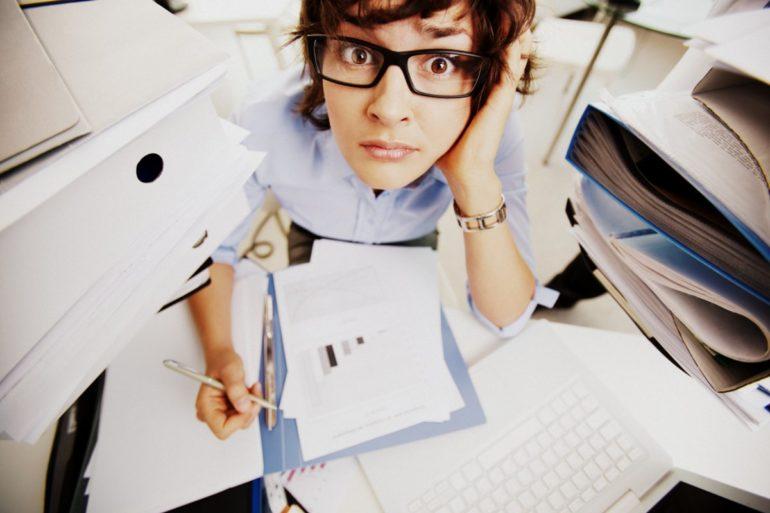 Working paperwork and procrastination